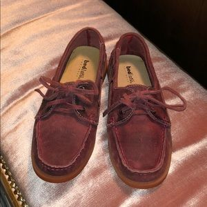 Bed Stu Aunt Bettie Leather Loafers Red Size 8.
